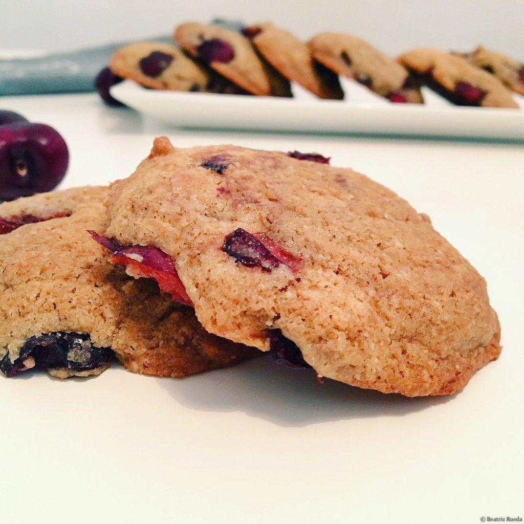 cookies de cireres sense gluten